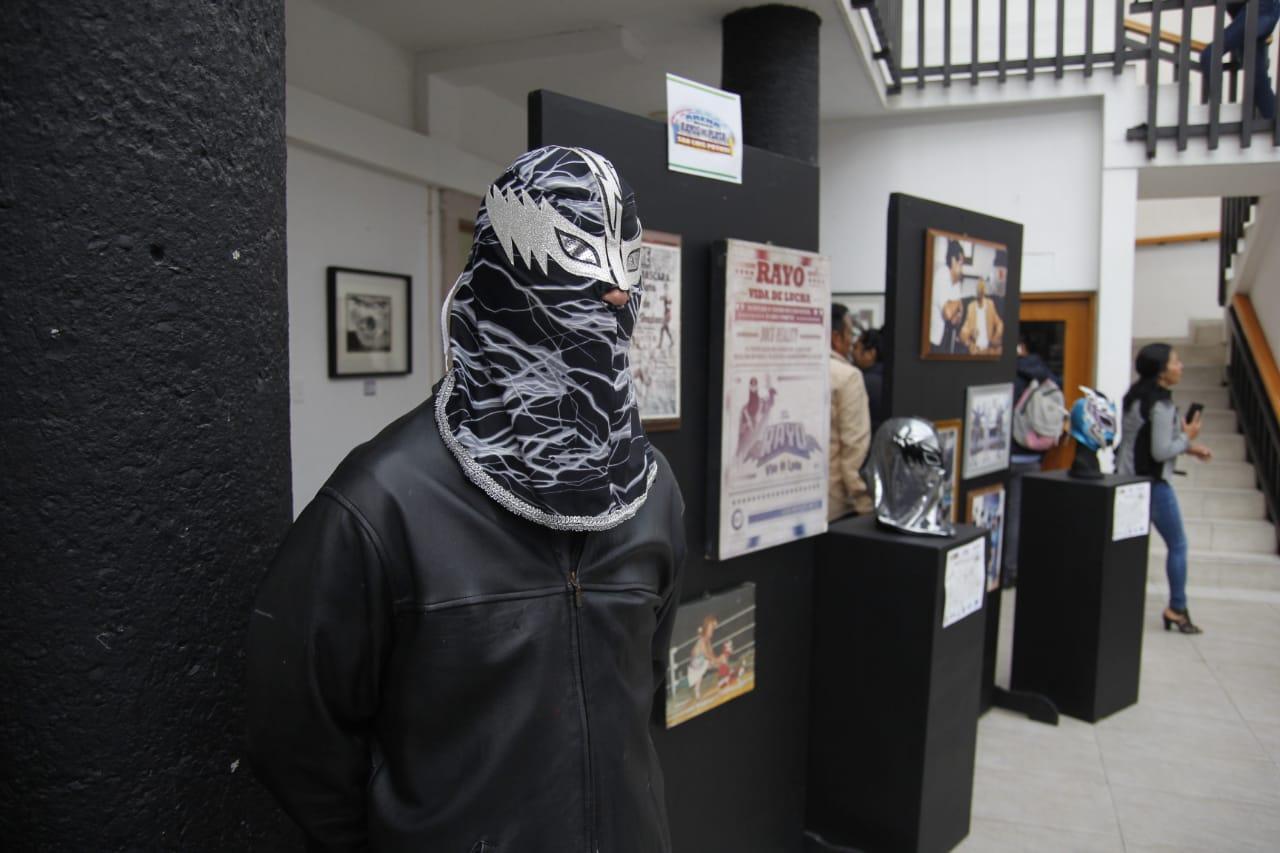 Exhibición de máscaras en la presidencia municipal de soledad